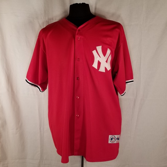 97aef777e Majestic Other - VTG Majestic New York Yankees Jersey Red Sz 2XL
